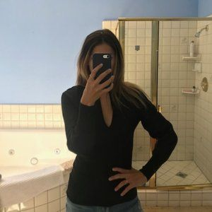 Black sweater, perfect for nights out (size small)